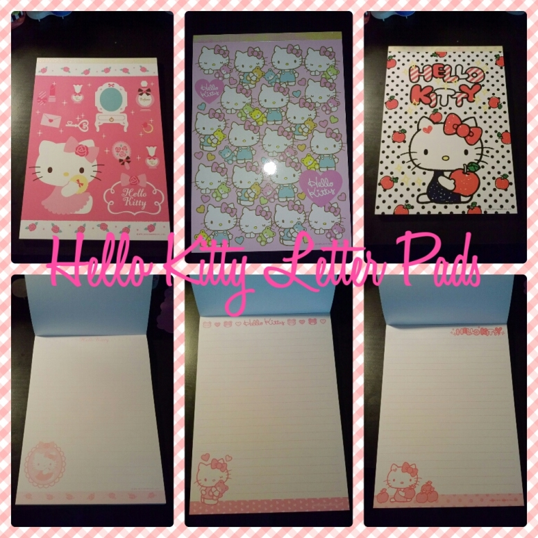 Top row is letter pads' covers. Bottom row is inside design.