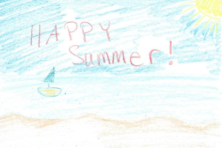 beach crayon